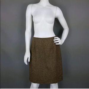Talbots Herringbone wool blend pencil skirt 12p